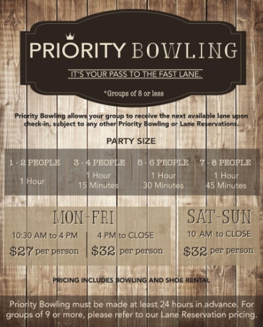 PRIORITY BOWLING SLIDE 12.27